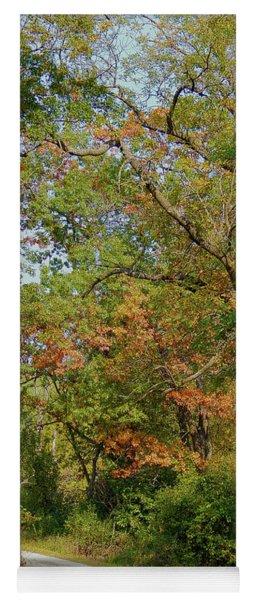 Autumn Hangs Over Yoga Mat