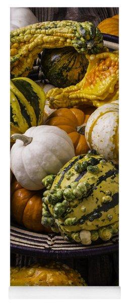 Autumn Harvest Basket Yoga Mat