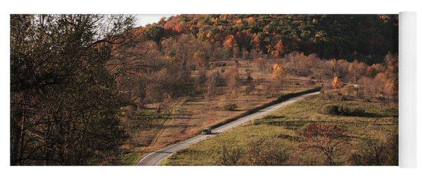 Autumn Hill Near Hancock Maryland Yoga Mat