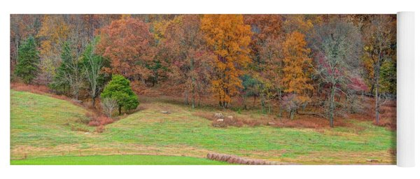 Autumn Hillside Yoga Mat