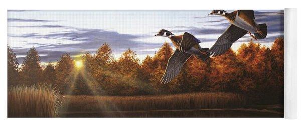 Autumn Home - Wood Ducks Yoga Mat