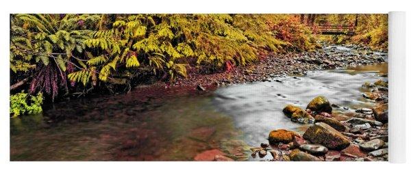 Autumn In An Oregon Rain Forest  Yoga Mat