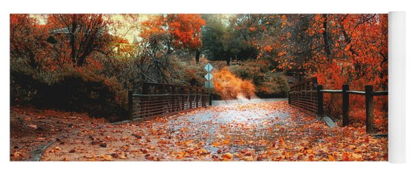 Autumn In Discovery Lake Yoga Mat