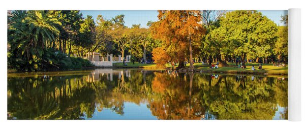 Autumn In Parque Tres De Febrero, Buenos Aires Yoga Mat