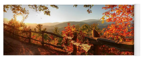 Autumn Landscape From Cataloochee In The Great Smoky Mountains National Park Yoga Mat