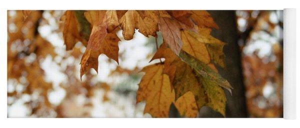 Autumn Leaves 2- By Linda Woods Yoga Mat