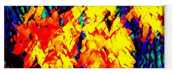 Autumn Leaves  Abstract  Yoga Mat