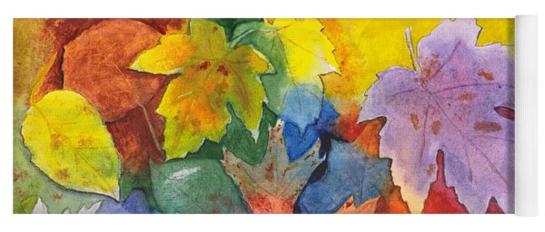Autumn Leaves Recycled Yoga Mat