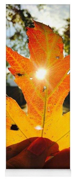 Autumn Maple Leaf Yoga Mat