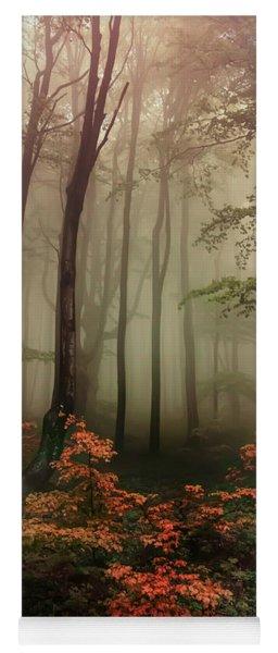 Autumn Mornin In Forgotten Forest Yoga Mat