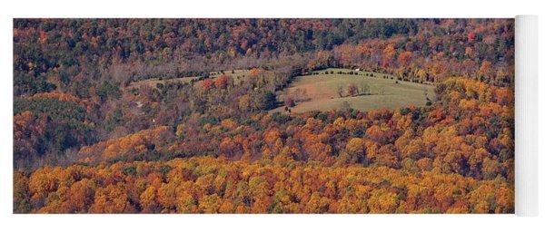 Autumn Mountain Side Yoga Mat