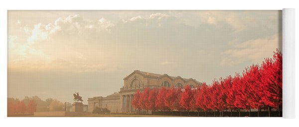 Autumn On Art Hill Yoga Mat