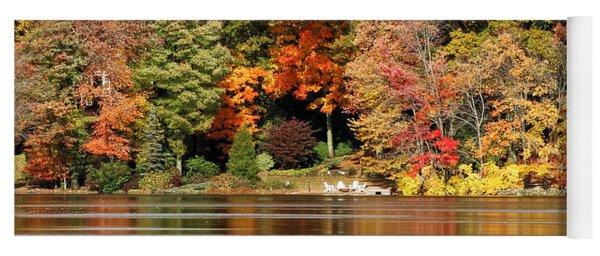 Autumn On Canoe Brook Lake Yoga Mat