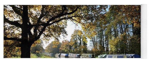 Autumn On The Wey Canal Surrey Uk Yoga Mat
