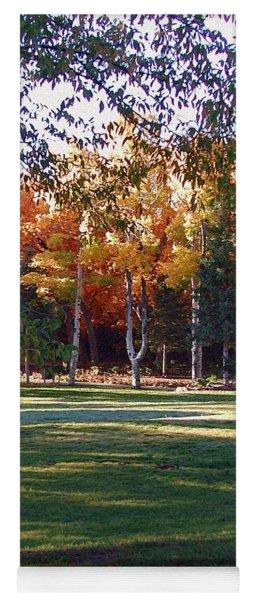 Autumn Park Yoga Mat