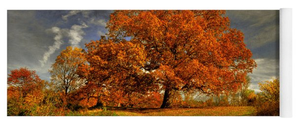Autumn Picnic On The Hill Yoga Mat