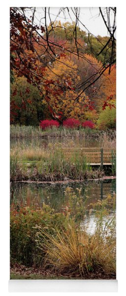 Autumn Pond In Maryland Yoga Mat