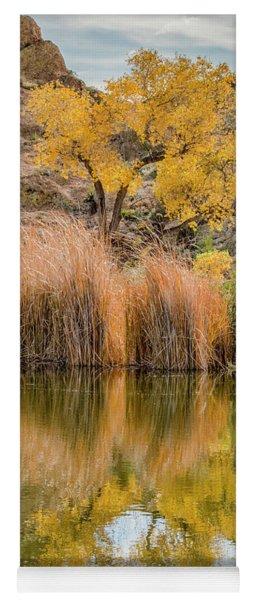 Autumn Reflection At Boyce Thompson Arboretum Yoga Mat