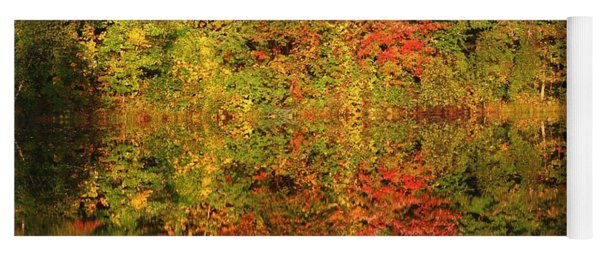 Autumn Reflections In A Pond Yoga Mat