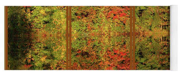 Autumn Reflections In A Window Yoga Mat