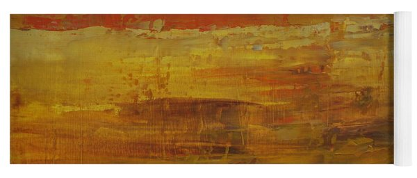 Yoga Mat featuring the painting Autumn Reflections by Jimmy Clark