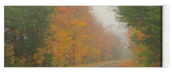 Autumn Roads Yoga Mat