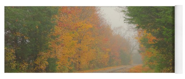 Autumn Roads Yoga Mat