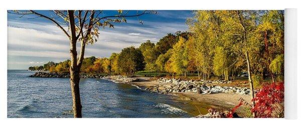 Autumn Scene Lake Ontario Canada Yoga Mat