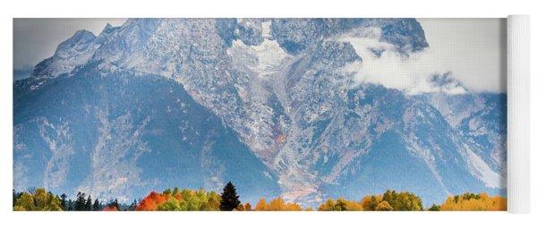 Autumn Storm Over Mount Moran Yoga Mat