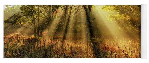 Autumn Sunlight Dolly Sods Yoga Mat