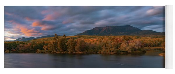 Autumn Sunset At Mount Katahdin Yoga Mat