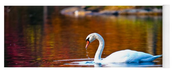 Autumn Swan Lake Yoga Mat