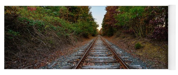 Autumn Train Yoga Mat