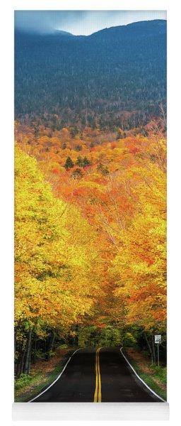 Autumn Tree Tunnel Yoga Mat