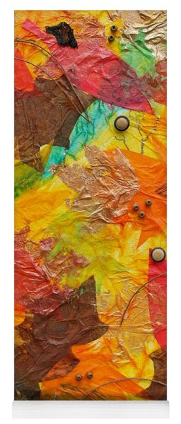 Autumn Leaves Underfoot Yoga Mat