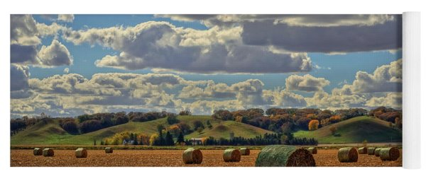 Autumn Valley Bales Yoga Mat