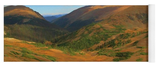 Autumn Valley From The Top Of Trail Ridge Road Yoga Mat