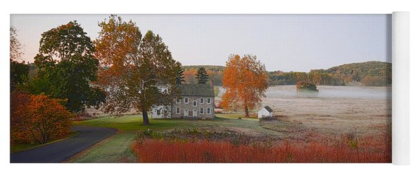 Yoga Mat featuring the photograph Autumn Walk In Valley Forge by Bill Cannon