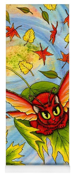 Autumn Winds Fairy Cat Yoga Mat