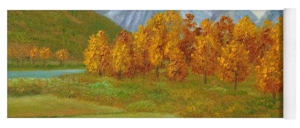 Autumnal Colors Yoga Mat