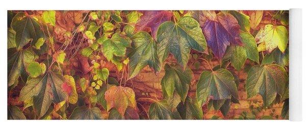 Autumnal Leaves Yoga Mat