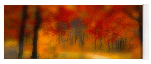Yoga Mat featuring the painting Autumn's Promise by Chris Armytage