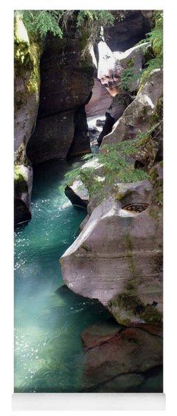 Avalanche Creek Glacier National Park Yoga Mat