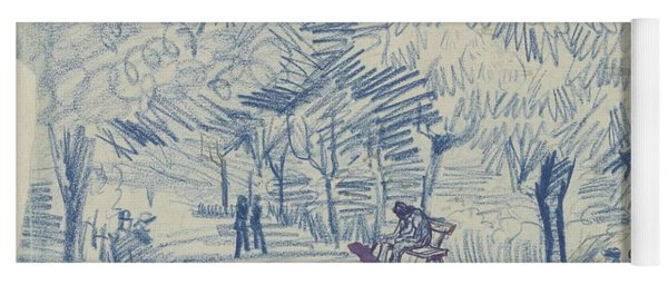 Yoga Mat featuring the painting Avenue In A Park Arles, May 1888 Vincent Van Gogh 1853 - 1890 by Artistic Panda