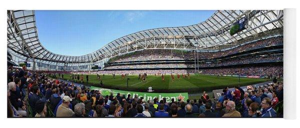 Yoga Mat featuring the photograph Aviva Stadium Panorama - Dublin by Barry O Carroll