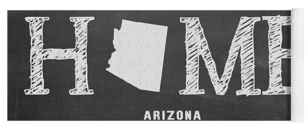 Yoga Mat featuring the mixed media Az Home by Nancy Ingersoll