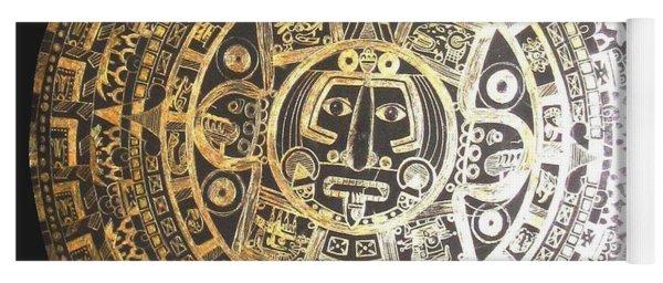 Aztec Calendar Yoga Mat