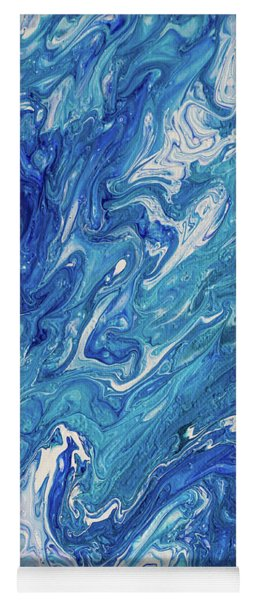 Azure Transfusions Of Ocean Waves Fragment  Yoga Mat