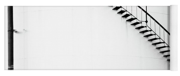B And W Stairs Yoga Mat