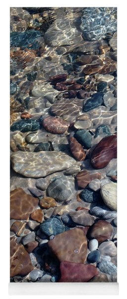 Babbling Brook Stones Yoga Mat